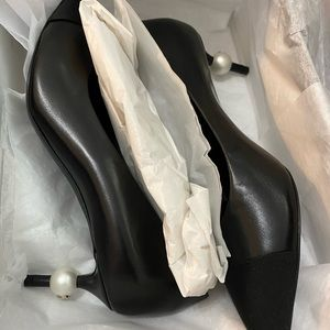 Chanel pearl pumps